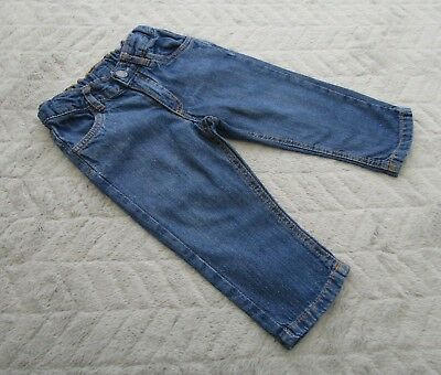 H&M Baby Boys 6-9 Months Kids Clothes Dark Blue Denim Jeans Trousers Bottoms