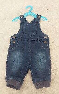 Baby Boys 0-1 Month Newborn Kids Clothes Denim Dungaree Joggers Jumpsuit Outfit