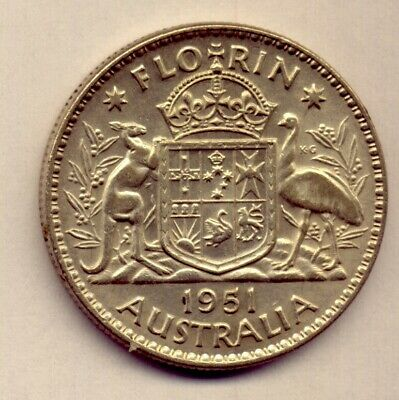 1951 Florin: A Beautiful  Silver   Coin :  Great Condition  No  Reserve