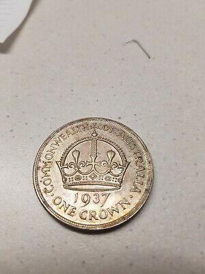 1937 Australian One Crown Coin
