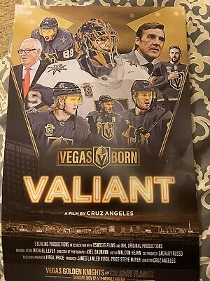 Vegas Golden Knights vs Calgary Flames 11/17/19, Valiant Movie Poster