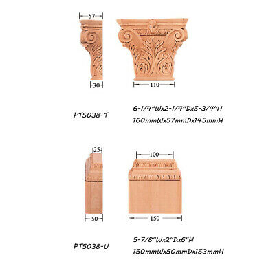 """Small Acanthus Capital with Base for 3-15/16""""Wx1""""D Pilaster Column"""
