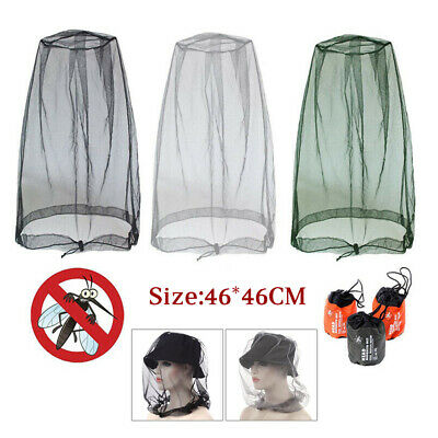 Mosquito Fly Head Net Insect Mesh Hat Bee Bug Mozzie Protector Fishing Outdoor