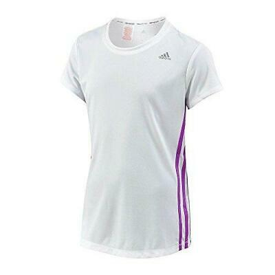 Adidas Performance Junior Girls Climacool White Purple T-Shirt S20230