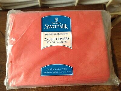 Swantex Swansilk 25 Red slip covers by 90 x 90cm