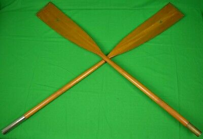 Abercrombie & Fitch 2 Wood ADK Oars w/ Copper-Tip Blades