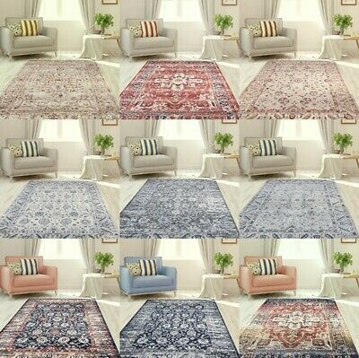 New Traditional Vintage Style Area Rug Classic Elegant Design Mats Hall Runners