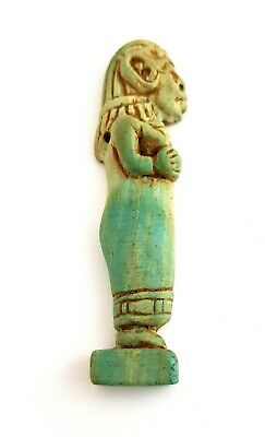 Very Rare Shabti Amulet Egyptian Antique Necklace Ancient Egypt Ushabti Faience