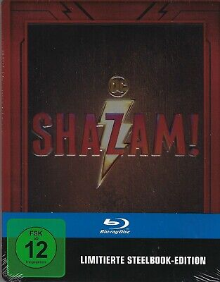 Shazam! Limited Edition Embossed SteelBook (Region Free Germany Import Blu-ray)