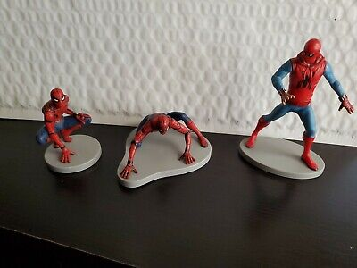 Disney Store Authentic SPIDER-MAN FIGURINE Cake TOPPERS AVENGERS Marvel