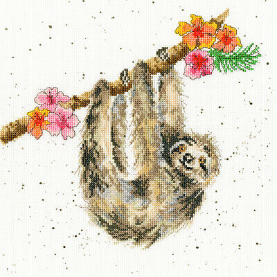 Bothy Threads Counted Cross Stitch Kit - Hanging Around - Sloth