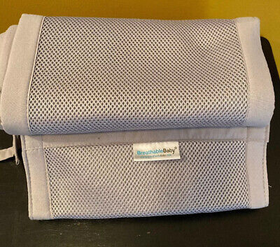 Breathable Baby Mesh Crib Liner Gray Lightly Used Retails $32