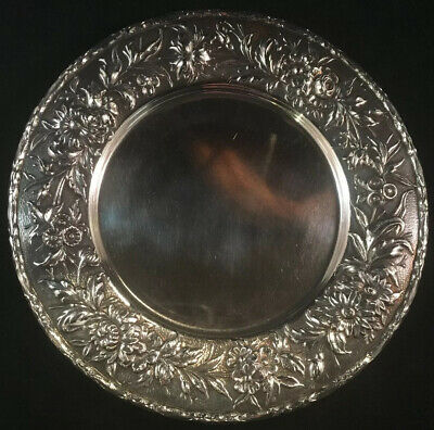 S.Kirk & Son Inc. Repousse Sterling Silver Bread Plate #128F No Monos