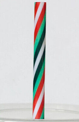 Starbucks Candy Cane Straw Reusable Plastic Fits Grande/Venti Cup CHRISTMAS 2019