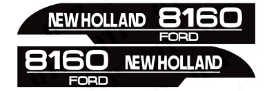 Decal Set Fits Ford New Holland 8160 Tractors. High Quality.