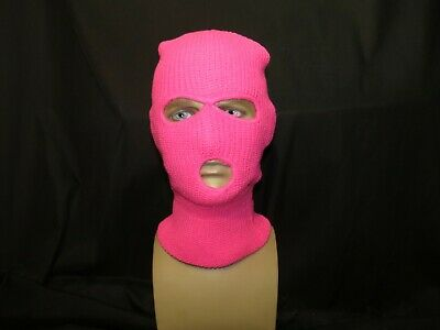 3 Hole Ski Mask. Neon Pink. UK STOCK. Express Delivery