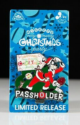 New 2019 Disney Parks Mickey's Very Merry Christmas Party AP Pin - Goofy LR