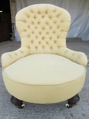 Victorian nursing button back chair (ref 732)