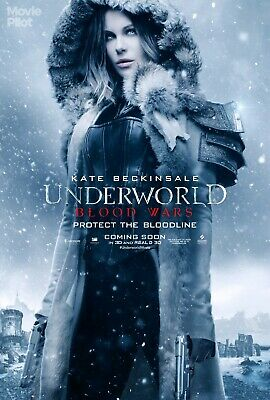 "Underworld Blood Wars Movie Silk Fabric Poster 27""x40""  Kate Beckinsale"