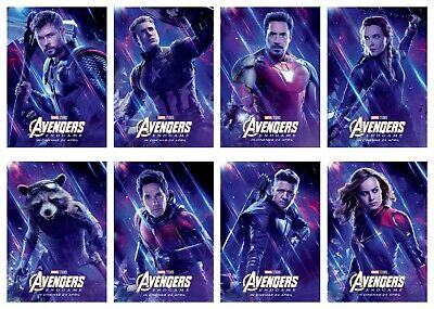 "Avengers: Endgame (2019) Movie Fabric Silk Poster 11""x17"" 24""x36"" 27""x40"""