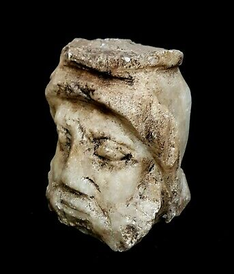 Roman Ptolemaic Egyptian Ancient Grecian God Terracotta Unique Marble Stone Bust