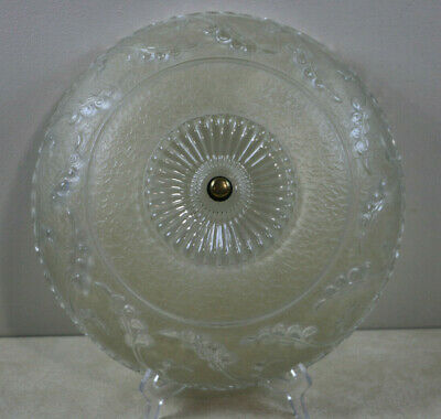 Antique Frosted Glass Shade Semi Flush Mount Ceiling Light Fixture Cover 14""