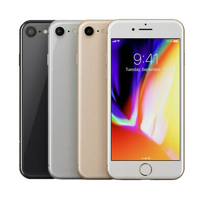 Apple iPhone 8 64GB (Factory Unlocked) Smartphone A + 3 Month Free Service Plan