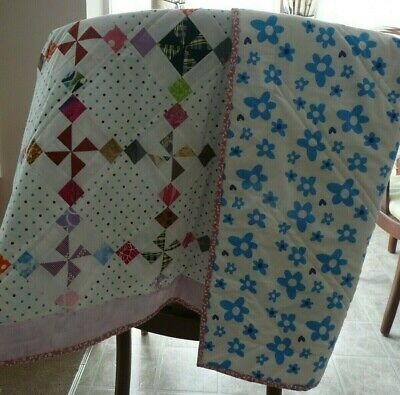 "NEW HANDMADE BABY QUILT CRIB / BLANKET  LAP QUILT PATCHWORK  52"" x 48"""