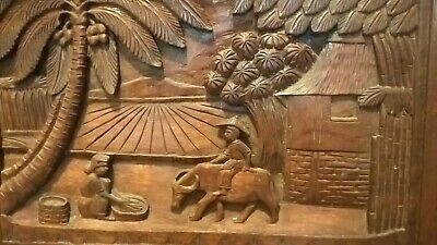 Hand Carved Wooden Serving Tray From Philippines Vintage