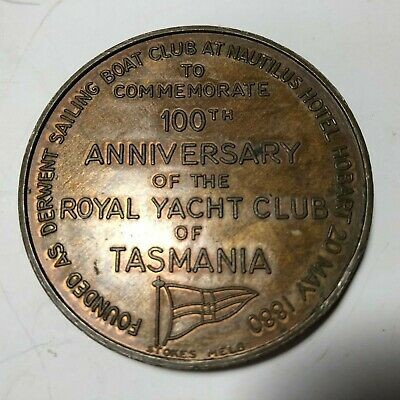 C1980/28 100th Anniversary Royal Yacht Club of Tasmania Medal
