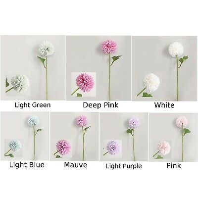 Artificial Fake Chrysanthemum Silk Flower Simulation Ball Plant Home Table Decor