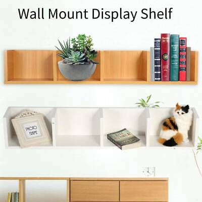 Modern 4 Cube Floating Wall Mount Shelves Book CD DVD Storage Shelf Display