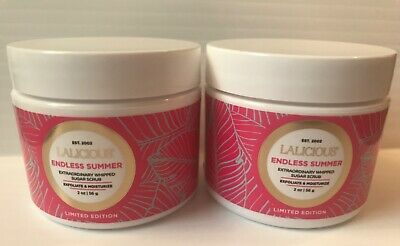 LOT 2 LALICIOUS endless summer whipped sugar scrub 4 oz total SEALED FRESH