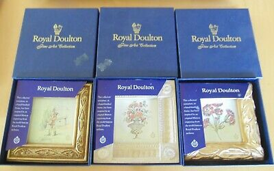 3 x Royal Doulton Minature Fine Art McQueen Collection - All New in Boxes