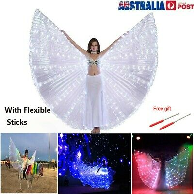 NEW LED Dress Belly Dance LED Isis Wings Egyptian Club Light Up Show LED Wings