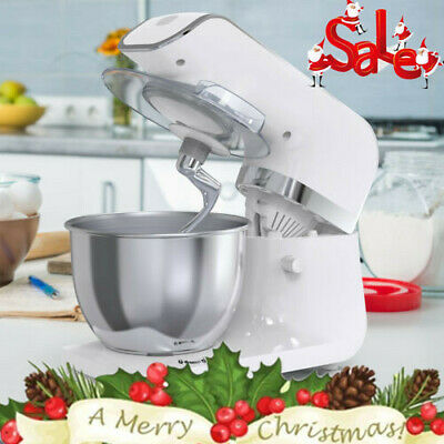 3 IN 1 Electric Food Stand Mixer Stainless Steel 6 Speed Blender Bowl Dough Hook