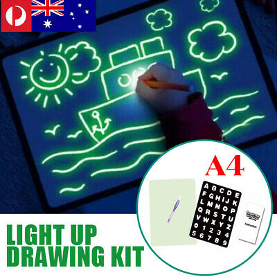 Educational Light Up Drawing Board Draw Sketchpad Board Child Kid Developing Toy