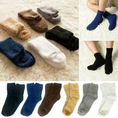 6 Pairs Mens Cosy Bed Socks Fluffy Home Sock Thick Indoor Winter Warm Soft