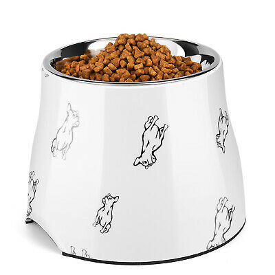 Elevated Dog Cat Bowl Feeder up to 24 Fl Oz - Raised Pet Dish Food Water Holder