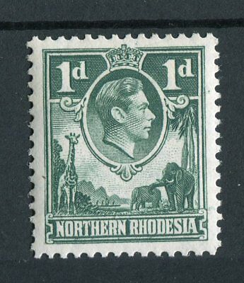Northern Rhodesia KGVI 1938-52 1d green 'extra boatman' flaw SG28a MNH