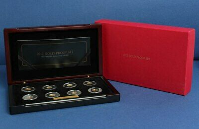 Australia: 2012 1c-$2 Gold Proof Set, 8 x 0.5g 9999 Gold, only 2000 sets issued