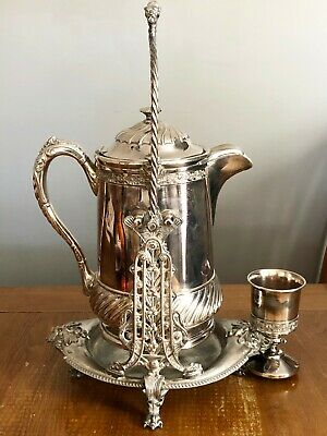 Reed & Barton Silverplate Tilting Teapot With Cup