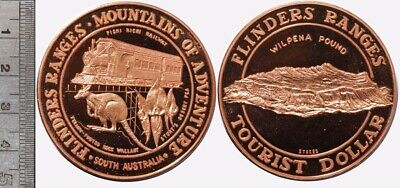 Australia: Flinders Ranges, South Australia Tourist Dollar, 45mm diameter