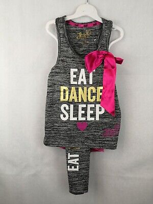 Girls Jo Jo Dance & Gym Outfit, Top And Leggings 6-7 Years