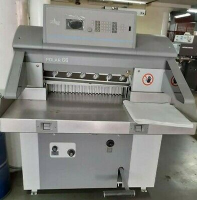 Polar Model 66 High Speed Programmable Paper Cutter  Guillotine Year 2013