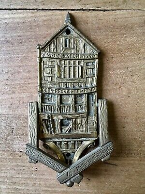 Antique Brass Door Knocker Old Victorian Vintage Chester House Providence