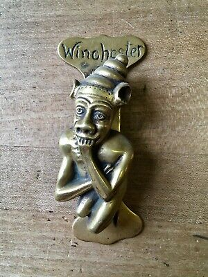 Antique Brass Door Knocker Winchester Figure Hardware Salvage Vintage Victorian
