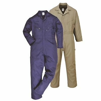 Portwest Dubai Coverall Overall Boilersuit Cotton Workwear Pockets Zip