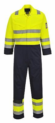 Portwest Hi Vis Modaflame Coverall Overall Boilersuit High Visibility