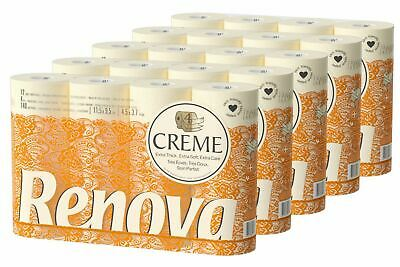 Renova Luxury Cream 4Ply Toilet Tissue Paper Roll (60 Rolls)